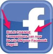 Facebook competition rule change!