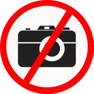 Photos not allowed